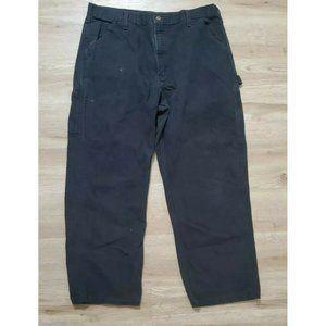 Carhartt Mens Washed Duck Work B11 Black Pants 36